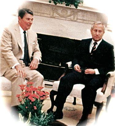 Gordievsky hos Reagan i Vita Huset