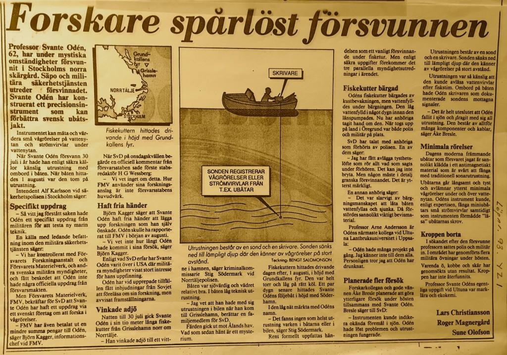 SvD Oden 1986
