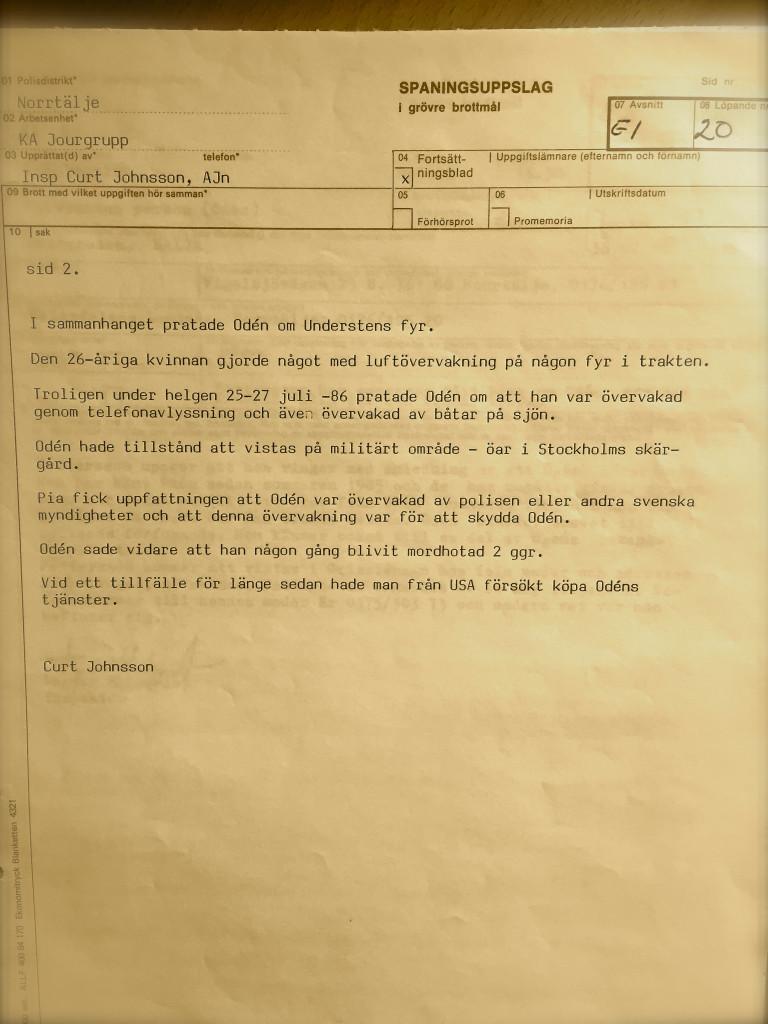 Oden polisrapport 6
