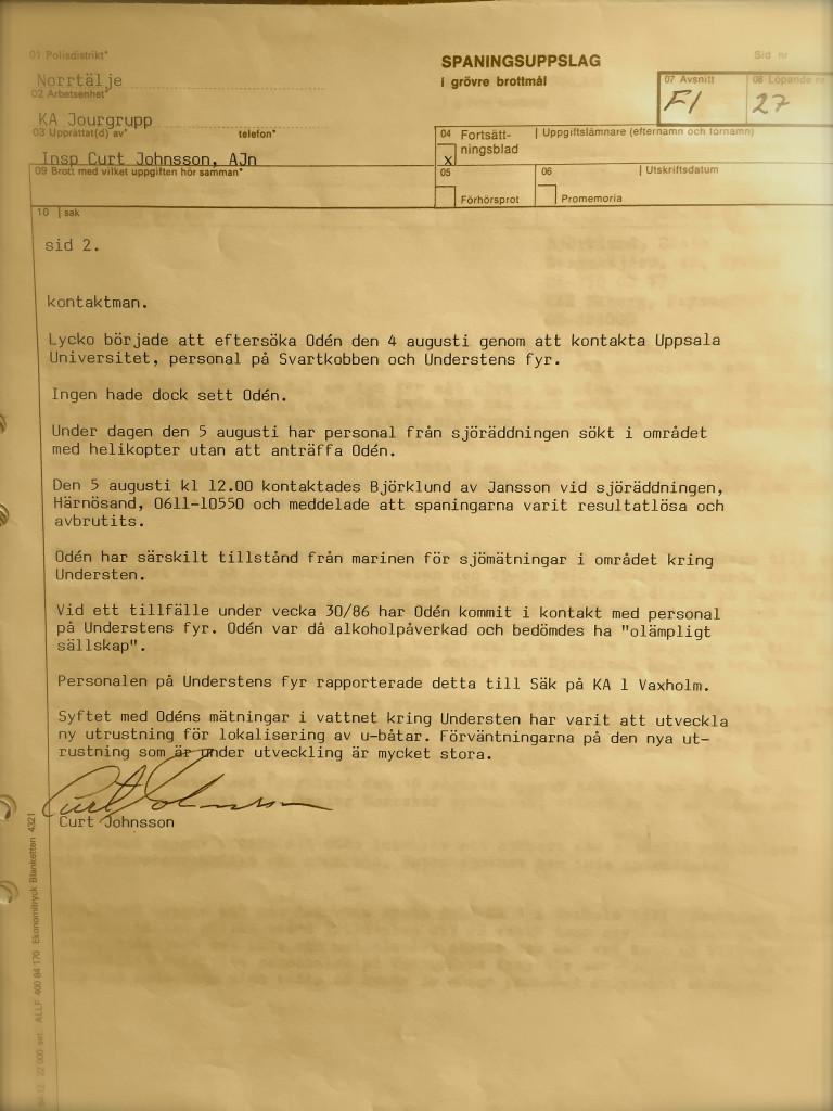 Oden polisrapport 7,2