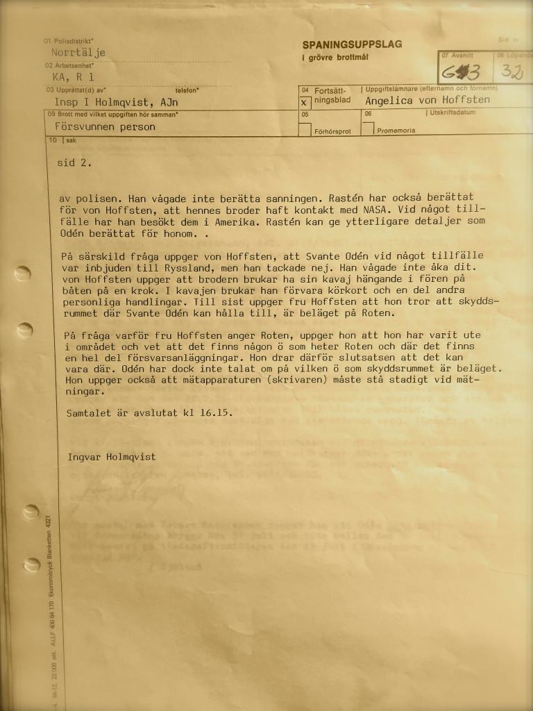 Oden polisrapport 9,2